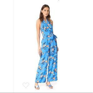 Diane Von Furstenberg Silese tile blue jumpsuit